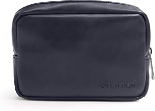 LENTION Split Leather Sleeve Pouch Bag, Electronic Accessories Storage Organizer Case for Laptop Charger, Wireless Mouse, ...