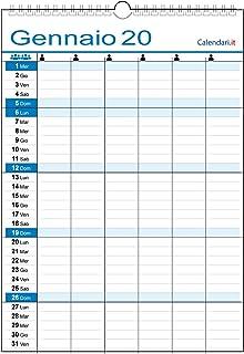 - E possibile stampare la vostra grafica Olandese ROSSO-BLU da muro con testata personalizzabile il vostro logo o una foto 10 Graficamente Calendario 2020 Cm 29x11 circa