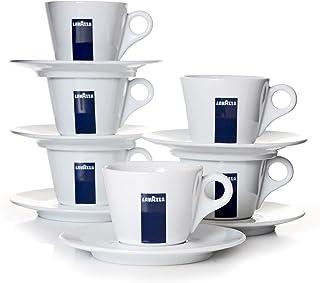 LavazzaLot de 6 Tasses à café Standard avec soucoupes