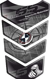 ADESIVI PARASERBATOIO TANKPAD RESINATO EFFETTO 3D ADESIVI-STICKER 3D compatible  BMW DARK CARBON LOOK SERIE M GP Tank Pad