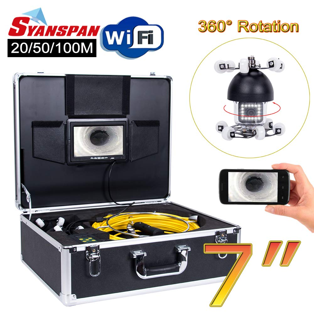 Wireless WiFi Pipe Inspection Camera SYANSPAN Sale item Android IOS 36 Beauty products for
