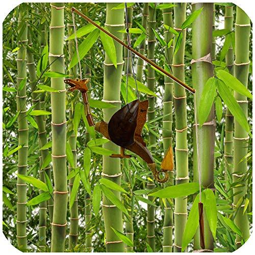 Simandra Drache Windspiel Mobile Türglocke Kokosnuss Holz handgefertigt