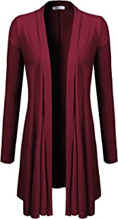 H2H Womens Casual Loose Fit Open Front Cardigan Lightweight Draped - Sleeveless/Short Sleeve/Long Sleeve