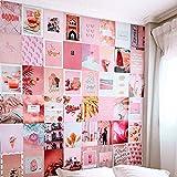 Flamingueo Fotos Pared Decoracion - 50 Fotos Decoracion Habitacion Tumblr, Decoracion Paredes Dormitorio, Decoracion Habitacion Juvenil, Vinilos Pared, Posters para Pared (Pink Island)