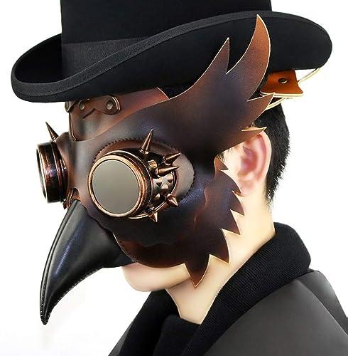 Fanfan Steampunk Européen Et Américain Peste Long Oiseau Bouche Médecin Masque HalFaibleeen Party Cosplay Bar Perforhommece Accessoires