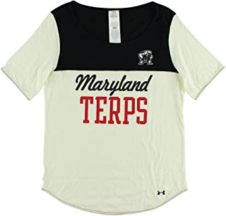 Under Armour Maryland Terrapins Color-Block Round-Neck Letter-Print T-Shirt for Women