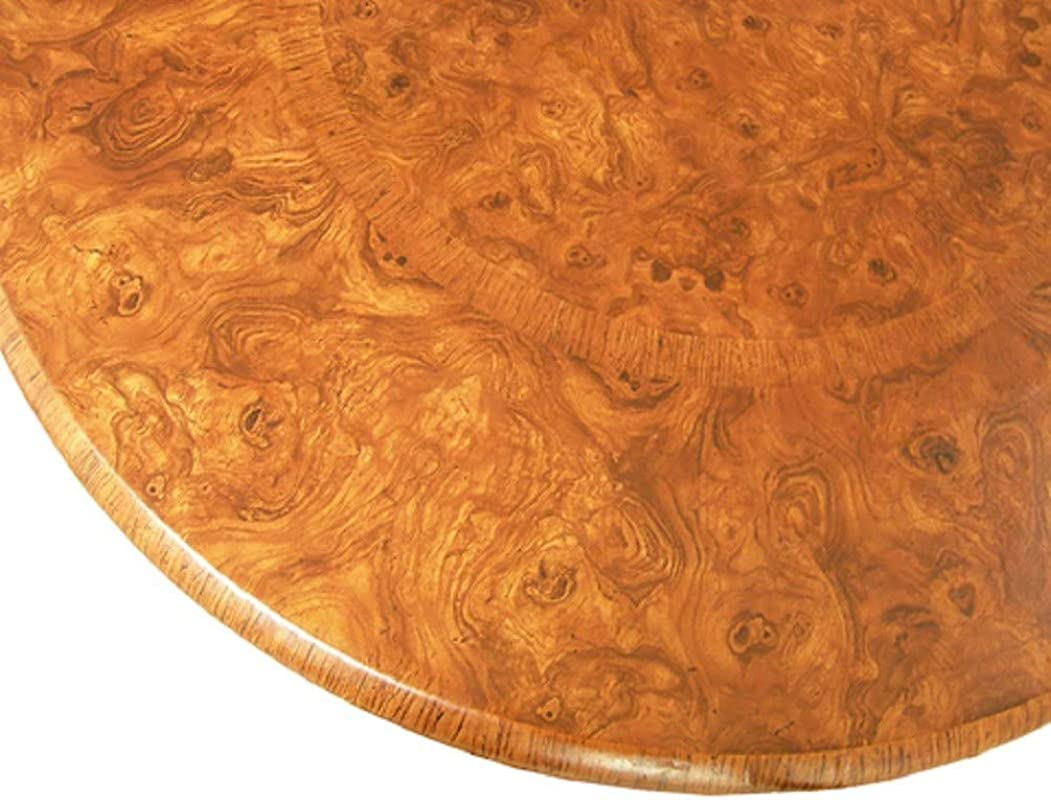 Table Cloth Round 36 To 48 Elastic Edge Fitted Vinyl Table Cover Maple Wood Pattern Brown Tan
