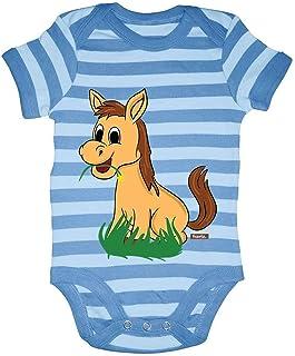 HARIZ Body para bebé con diseño de caballo y hierba, diseño de animales de la selva, incluye tarjeta de regalo