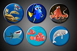 Finding Nemo 2 Finding Dory Magnets Movie set of 6 Dory Destiny Hank the Octopus Bailey Whales Sea Tale 1 or 1.75 inches (1.75 Inch Magnets)