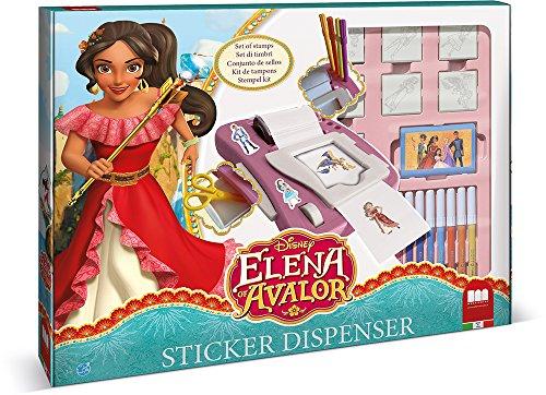 Multiprint Elena of Avalor - Juegos de Sellos para niños (Multicolor, Caucho, Madera, 3 año(s), Italia, 480 mm, 60 mm)