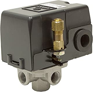 Heavy Duty Air Pressure Control Switch, Sunny L4, 4 port, 95-125 PSI, 25 Amp
