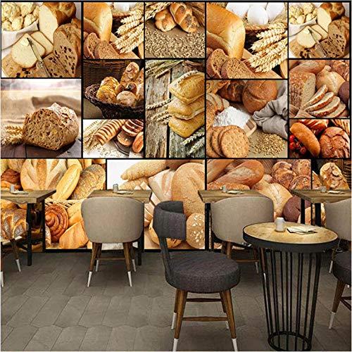 Lvabc 3D-fotobehang, personaliseerbaar, met foto in Europese stijl, voor brood of thee, voor dessert-shop, koffie, decoratie voor muurschilderen en muurkunst 250x175cm