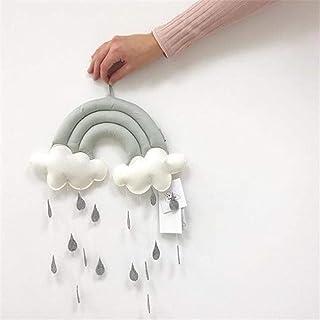 U/K Pendentif Toy Sweet Tissu Décoration Accessoires Baby Berceau Accessoires Cloud Raindrops Cadeaux Cadeaux Pépinière Mo...