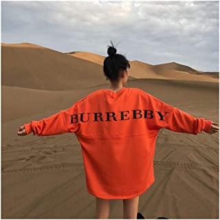 Cárdigans Jerséis Otoño De Gran Tamaño Con Capucha Vestido De La Camiseta De Mujeres Top Letra De La Impresión Larga Floja...