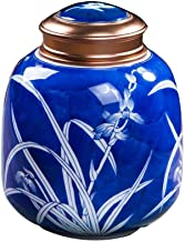 Jueven Funeral Urn by Cremation Urns for Ashes Adult Large - Hand Made in Ceramics & Hand - Engraved - Burial Urns at Home or in Niche at Columbarium (Color : A)