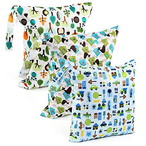 LEADSTAR 3 stuks luiertas luiertas wetsuit neuszakken herbruikbare vochtige doekjes organizer tas reistas met ritssluiting voor baby peuters