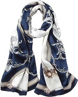 24db9a69b0536 LD Foulard Femme 100% Soie Écharpe Elégante Mode Hypoallergénique