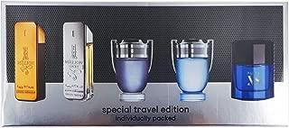 Paco Rabanne For Men 5 Pc Mini Set (1 Million 5ml / Prive 5ml / Invictus 5ml /I ntense 5ml / Pure Xs 5ml)
