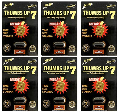 Thumbs Up 7 25K Black Male Enhancing Natural Performance Pill The New Most Effective Natural Amplifier for Performance & Energy (6)