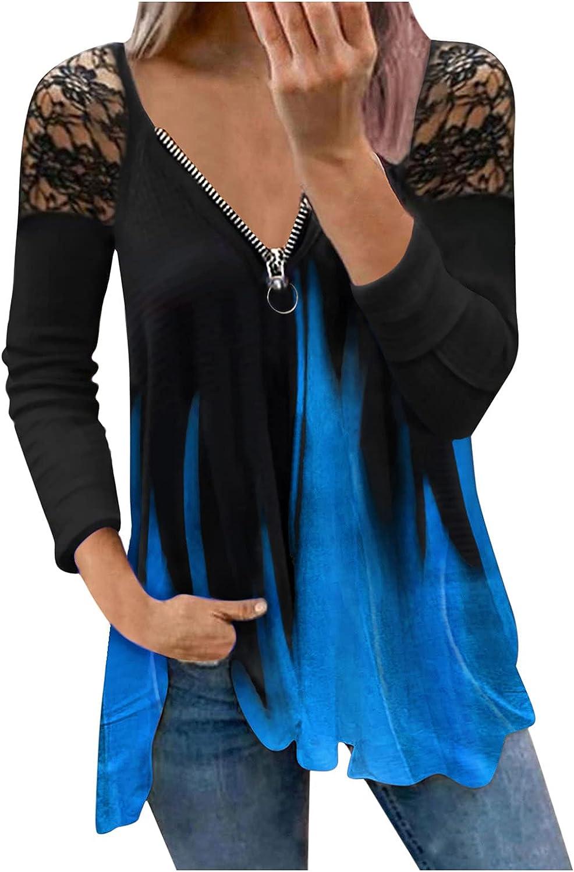 GCETTIC Sweatshirt for Women 1/4 Zip Tie Dye Print Pullover Long Sleeve Causal Sweatshirts Activewear Running Jacket