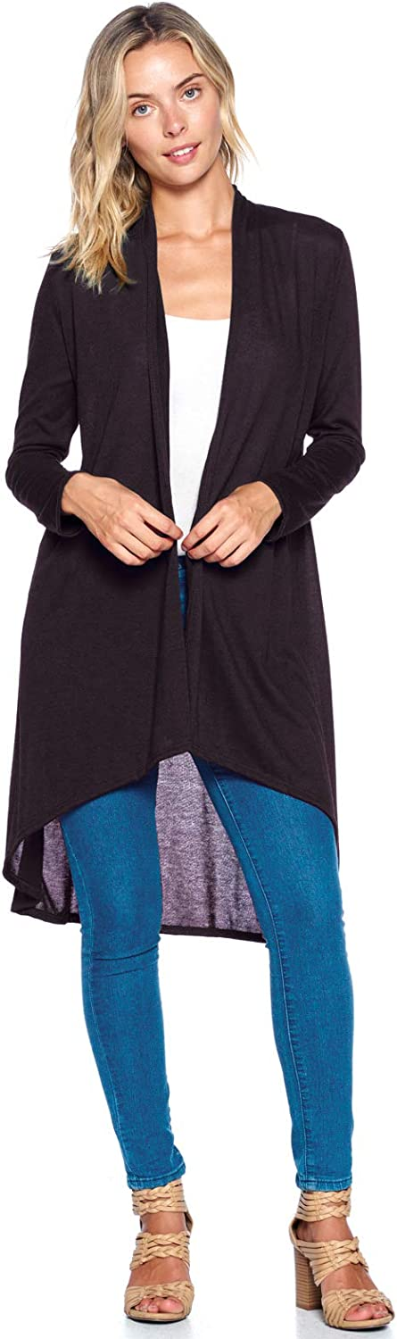 Modern Kiwi Solid OFFicial mail Max 43% OFF order Essential Long S-3XL Cardigan Cascading