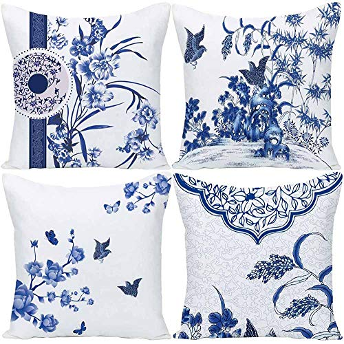 Our #7 Pick is the Wilproo Blue Geometric Flower Throw Pillow Covers