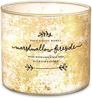 White Barn Bath and Body Works Marshmallow Fireside Scented Candle 3 Wick 14.5 OZ Large