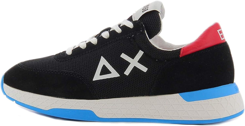 Sun68 Black Sponge Lunar mesh Sneaker