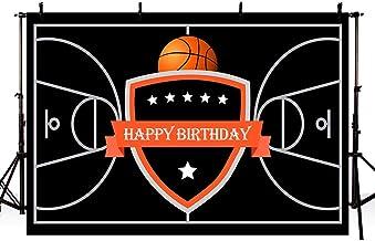 MEHOFOTO Cortina de color rojo casino temático adulto Feliz Cumpleaños estudio de la foto Fondos Bandera del partido 7x5' Basketball