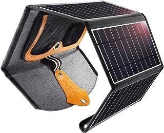comprar comparacion CHOETECH Cargador Solar, 22W Panel Solar Cargador Portátil Impermeable Placa Solar Power Bank Compatible con Teléfonos Sam...