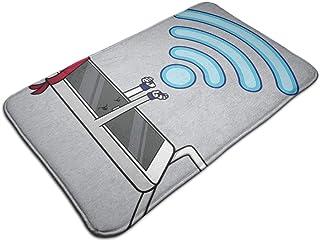 HUTTGIGH Wifaduken - Felpudo antideslizante para puerta de entrada con WiFi Smark teléfono Hadouken RYU Street Fighter, al...