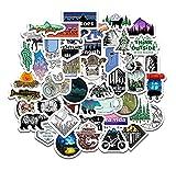 GSNY Deportes al Aire Libre, montaña, Bosque, Aventura, Grafiti, Pegatinas, portátil, teléfono móvil, monopatín, Motocicleta, Coche, Pegatinas Impermeables, 50 Hojas