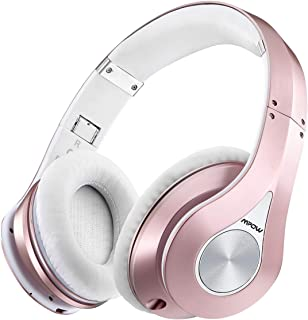 Mpow 059 Bluetooth Over Ear Headphones, Hi-Fi Stereo Wireless Headset, 25H Playing Time, Soft Memory-Protein Earmuffs, Foldable, w/Built-in Mic Wired Mode PC/Cell Phones/TV