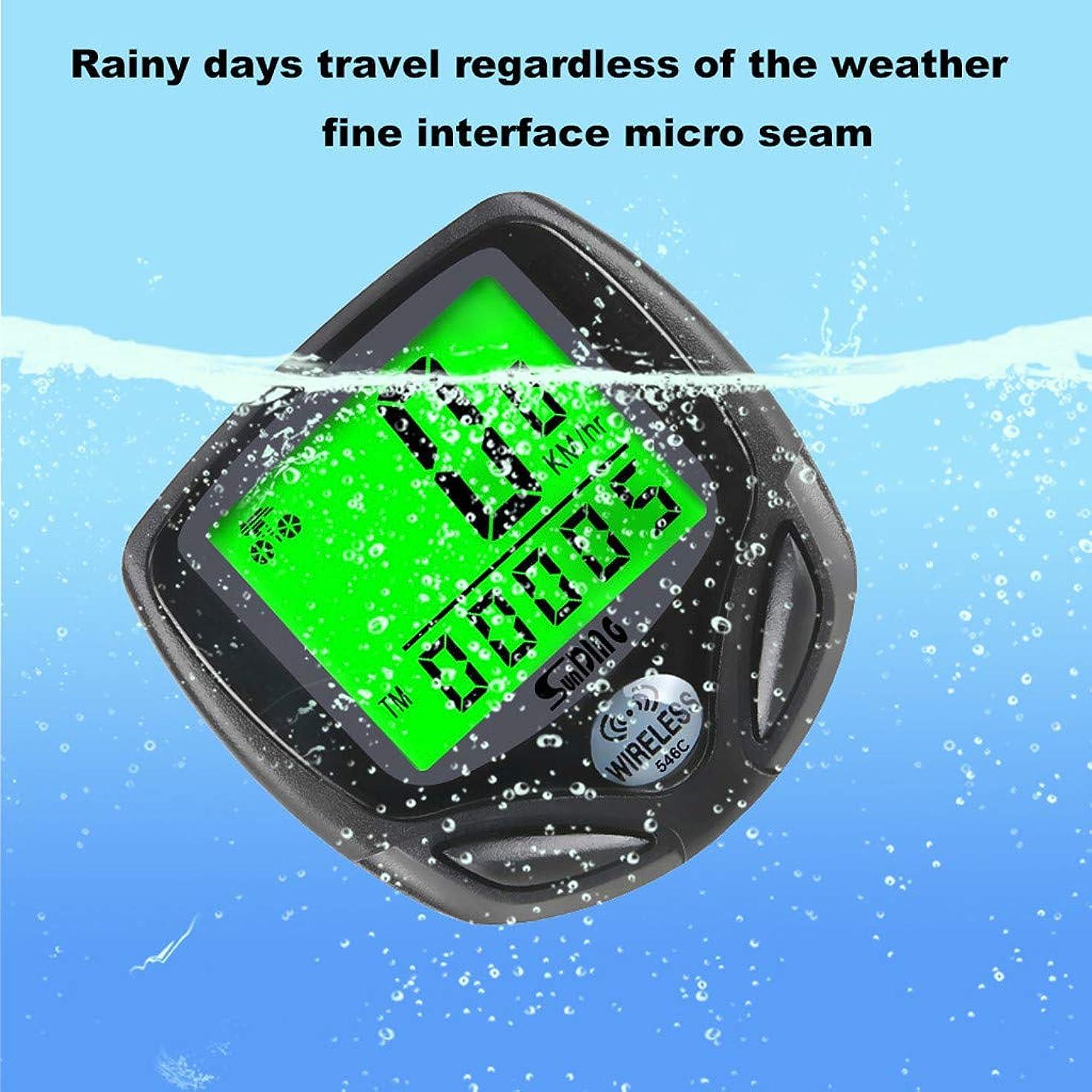 Waterproof Stopwatch, Sports Durable Back Light Speedometer Odometer Bicycle Wireless Code Table SD-546C Bike Accessories (Black)