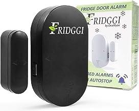 Fridggi Door Open Alarm with delay, Fridge Door Alarm When Left Open, Doors 3 timers Alert (Black-pack1)