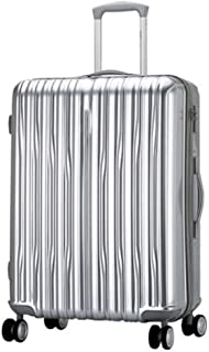 HUANGDA Maleta de Viaje con Maletas rígidas ABS Ultra Ligeras para Equipaje de Mano/Cerradura incorporada/Manija giratoria telescópica de 4 Ruedas (Color : Silver, tamaño : 22 Inches)
