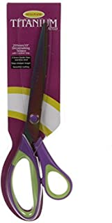 Sullivans Titanium Dressmaker Scissors 10-inch, Purple/Green