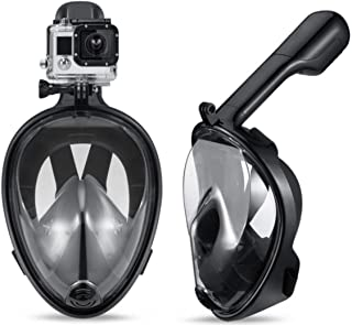 مكافحة الضباب انفصال جاف تنفس قناع الوجه الكامل مجموعة قناع الغوص سكوبا - أسود