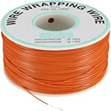 uxcell OK Wire Tin Plated Copper Cord Wire Wrapping P/N DM-30-1000 30 AWG 820ft Length Orange