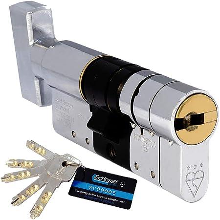 ABUS EC550 longueur 60//30B mm 6 cl/és Cylindre /à bouton profil/é