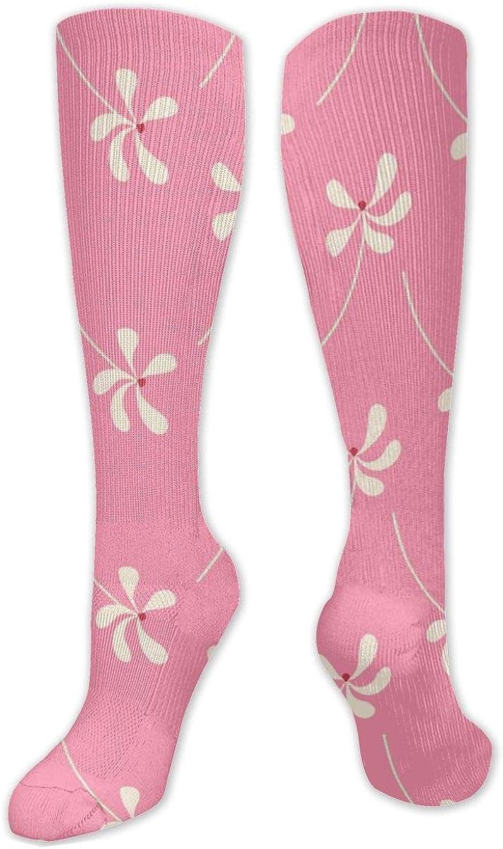 Love Flower Knee High Socks Leg Warmer Dresses Long Boot Stockings For Womens Cosplay Daily Wear