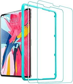 ESR iPad Pro 11 ガラスフィルム Face ID対応 オリジナルなタッチ感 旭硝子 高透明 硬度9H スクラッチ/飛散/気泡防止 自動吸着 指紋付きにくい スクリーン全面保護 iPad Pro 11 Face ID対応 保護フィルム 貼る枠付き 改善版(2枚入り)