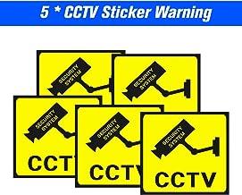 Daseey 5 pçs/lote Safeguard À Prova D 'Água Sunscreen Câmera de Segurança Adesivo de Aviso de Decalque Sinais Para Vigilân...