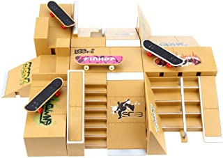 Top of top store 11pcs Skate Park Kit Ramp Parts for Tech Deck Finger Board Handrail Ultimate Sport Training Props Games