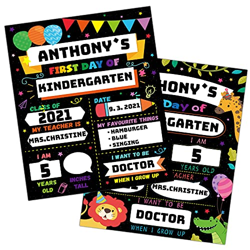 16 Pack First Day of School Board Signs, 12″ x 9″...