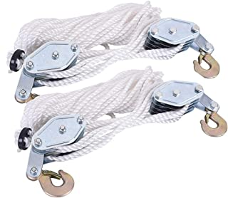 Ewead,5pcs M32 32mm Swivel Stainless Steel 304 Wire Rope Single-sheaved Pulley Block