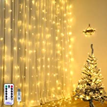 Ollny 9.8ft x 9.8ft 304 LEDs Indoor Window Curtain Lights