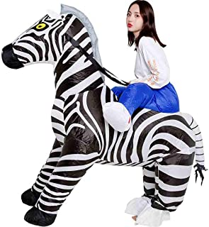 Gli adulti a Righe Zebra Animale Giungla Selvaggio Carnevale Costume Vestito Maschera