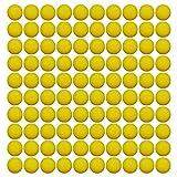 EKIND ガン弾丸ボール ナーフ ライバル用 替え玉 ボール 弾丸 おもちゃのガン弾丸ボール100個入り イエロー
