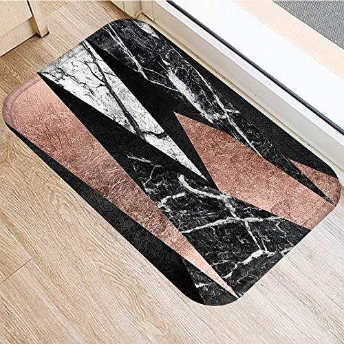 HLXX Alfombra Antideslizante con patrón de mármol a Rayas de Piedra, Felpudo para Puerta, Felpudo para Cocina al Aire Libre, Alfombra para Sala de Estar, Alfombra A10 60x90cm
